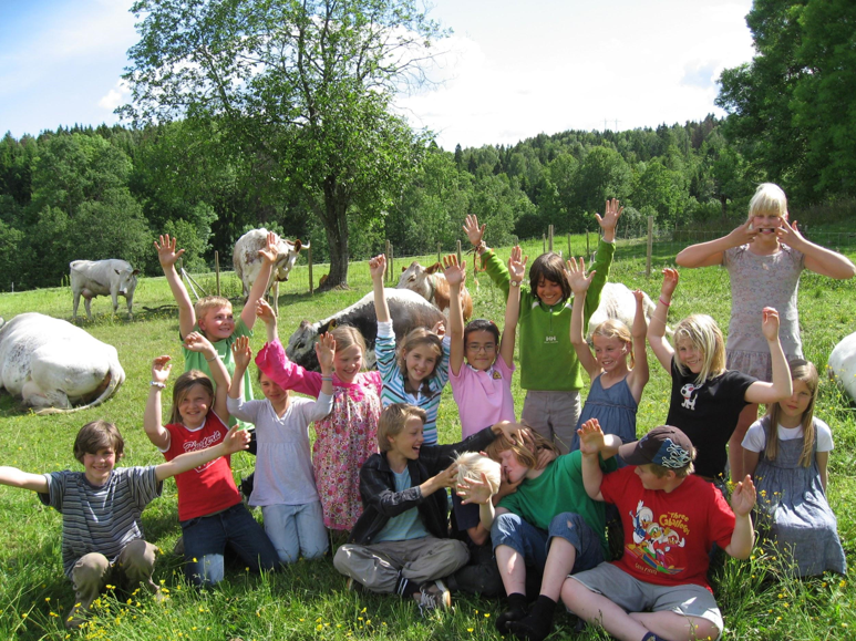 Barn på Holt gård
